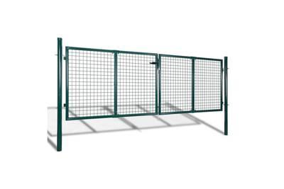 Portillon Vidaxl Portail de clôture de jardin 289x125 cm / 306x175 ...