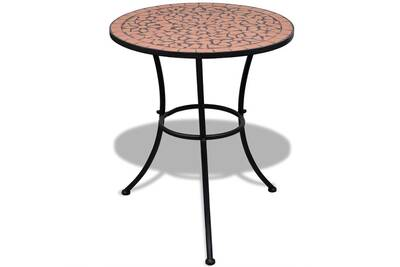 Table mosaïque en terre cuite 60 cm