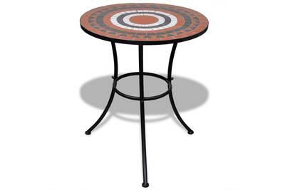 Ensemble table et chaise de jardin Vidaxl Table mosaïque terre cuite ...