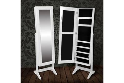 Miroir mural Vidaxl Armoire à bijoux rangement miroir meuble chambre ...