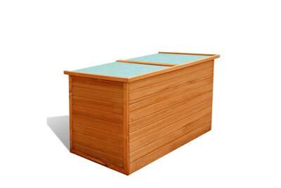 Mobilier de jardin ligne dakar boîte de rangement de jardin 126 x 72 x 72  cm bois