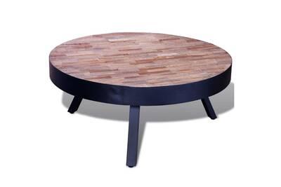 Table Recyclé Basse Ronde De Teck Bois zLMpjGVqSU
