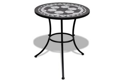 Table mosaïque noire / blanche