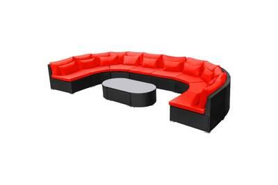Ensemble table et chaise de jardin Vidaxl Mobilier de jardin 11 pcs ...