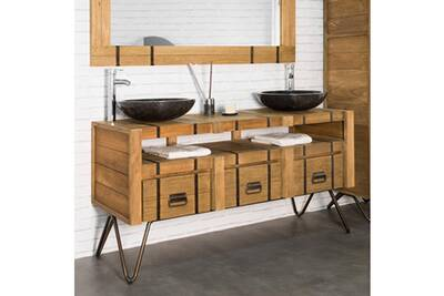 Meuble Salle De Bain Wanda Collection Meuble Double Vasque En