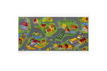 Tapis enfant Bebegavroche Tapis circuit little village -tapis : 95 x 200 cm