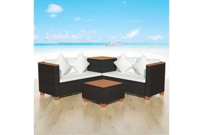 Ensemble table et chaise de jardin Vidaxl Mobilier de jardin 14 pcs ...