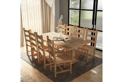 Ensemble Table Chaise Vidaxl Table Et Chaises De Salle A Manger