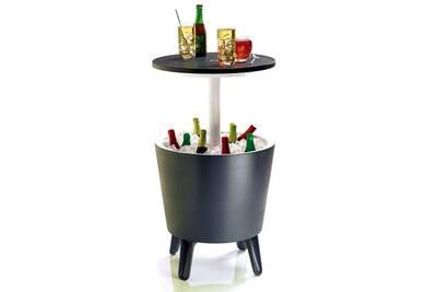 Ensemble table et chaise de jardin Keter Glacière bar anthracite ...
