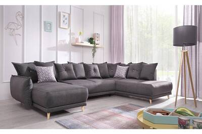Canap d 39 angle bobochic lena canap d 39 angle panoramique - Canape d angle convertible couchage quotidien ...