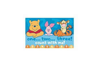 Tapis enfant Winnie Winnie count with me bleu 80 x 140 cm tapis enfant et disney par winnie