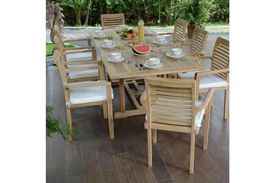 40 Fauteuils En 80 2 M8 De KingstonTable À Samoa Ecograde Salon Jardin 1 Teck Extensible tsCxhrdQ