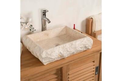 Vasque De Salle Bain Wanda Collection Poser Rectangle En Marbre Naples Crme