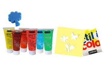Peinture et dessin Pebeo Gedeo Arty's Kit gouache aux doigts 6 tubes 20 ml animaux les animaux du jardin