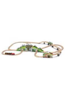Trains Melissa And Doug Mountain tunnel train set