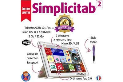 tablette tactile ordimemo tablette facile senior simplicitab 2 32 go 10 1 edition limit e 10 me. Black Bedroom Furniture Sets. Home Design Ideas