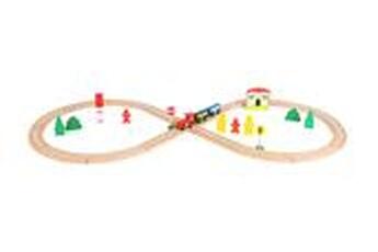 Jeux ludo éducatifs LEGLER Jeu en bois - chemin de fer en bois avec gare - legler 10503