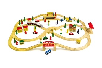 Jeux ludo éducatifs LEGLER Jeu en bois - chemin de fer 'voie ferrée surélevée' - legler 1501