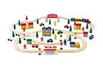 Jeux ludo éducatifs LEGLER Jeu en bois - chemin de fer en bois 'grand format' - legler 1001