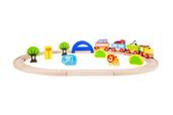 Jeux ludo éducatifs LEGLER Jeu en bois - chemin de fer en bois 'mon zoo' - legler 10504