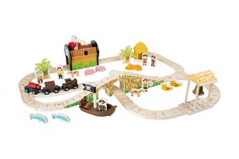 Jeux ludo éducatifs LEGLER Jeu en bois - chemin de fer 'île des pirates' - legler 3123