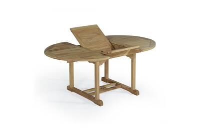 Table de jardin Teck\'attitude Table extensible ronde en teck ...