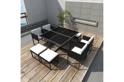 Ensemble table et chaise de jardin Vidaxl Jeu de mobilier de jardin ...