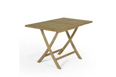Table de jardin Teck\'attitude Table de jardin en teck pliable 120 x ...