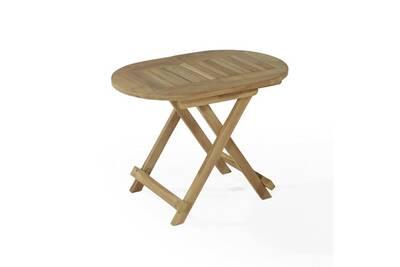 Table de jardin Teck\'attitude Table basse pliante ovale en teck ...