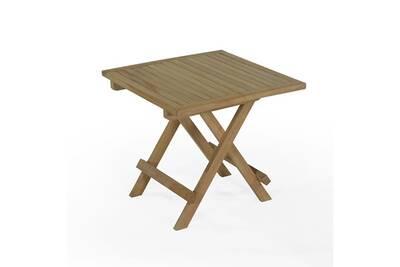 Table de jardin Teck\'attitude Table basse pliante carrée en teck ...