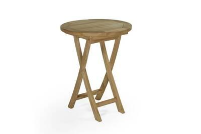 Table de jardin Teck\'attitude Table pliante ronde en teck ecograde ...