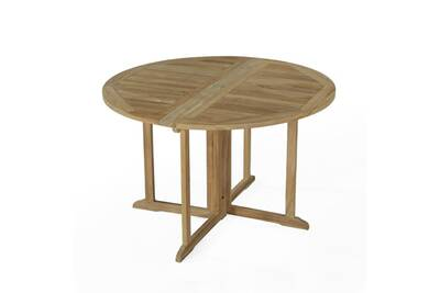 Table de jardin en teck pliable ø 120 cm - domingue