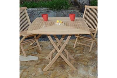 Table de jardin Teck\'attitude Table de jardin en teck pliable 90 x ...