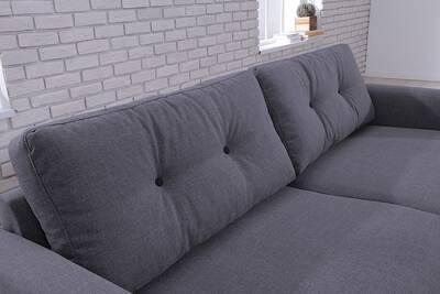 canap d 39 angle bobochic canap fixe 3 places gris fonc scandi darty. Black Bedroom Furniture Sets. Home Design Ideas