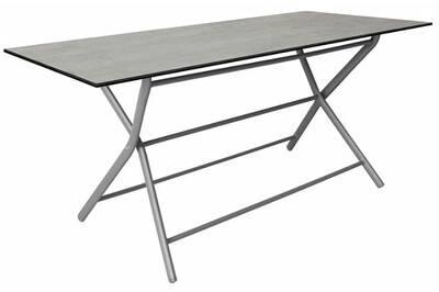 Table de jardin Proloisirs Table pliante en aluminium azuro 160 cm ...
