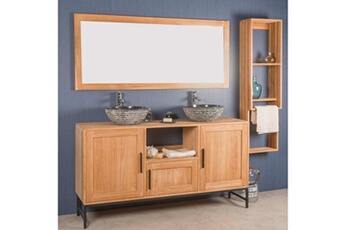 meuble salle de bain meuble salle de bain double pablo en teck 160 cm wanda collection