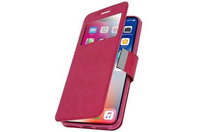 coque iphone x clapet rose