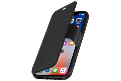 Housse iphone x etui portefeuille antichocs 2.1m griffin survivor strong - noir