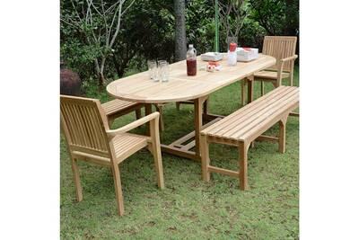 Ensemble table et chaise de jardin Teck\'attitude Salon de jardin en ...