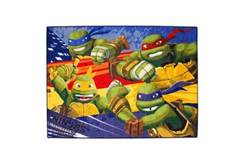Tapis de jeu et tapis de sol Guizmax Tapis enfant les tortues ninja 133 x 95 cm disney ninja turtles