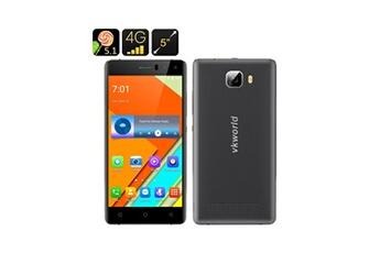 Auto High Tech Téléphone smartphone 4g écran hd 5 pouces mtk6735 2 go de ram 16 go rom, android 5.1 (noir)