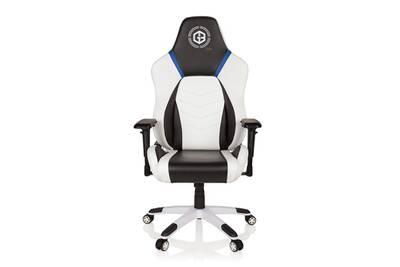 Fauteuil Bureau Hjh Office Chaise Gaming Gamer Gamebreaker Polarys Simili Cuir Blanc