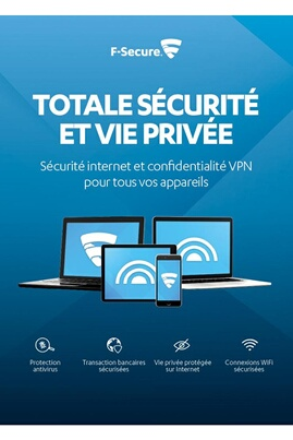 F-secure F-secure total - sécurité internet et confidentialité vpn pour smartphones, tablettes, pc et mac - 3 appareils / 1 an (réf. Fcftbr1n003fr)