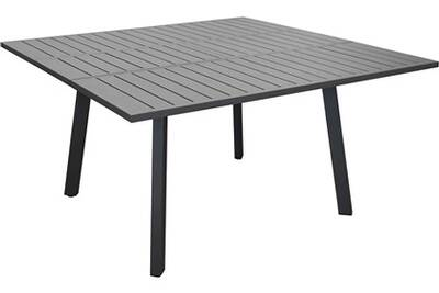Table en aluminium avec allonge barcelona 145 cm