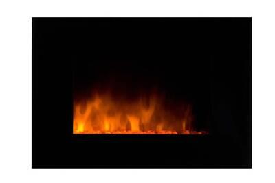 Cheminée électrique Chemin'Arte Cheminée design volcano en acier et verre trempé noir