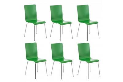 Ensemble table chaise Décoshop26 Lot de 6 chaises de