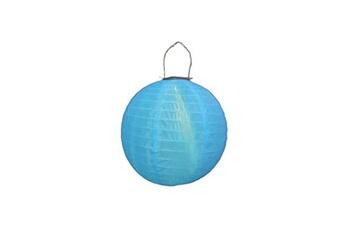 Lampion rond LED solaire avec hanse - Bleu