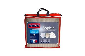 DODO Couette légère 250g/m² SOPHIA rayée 140x200 cm beige et blanc