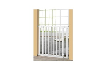 Barrière de sécurité bébé Geuther Geuther barriere vario safe sans percer bois blanc/métal 74,5-82,5 cm