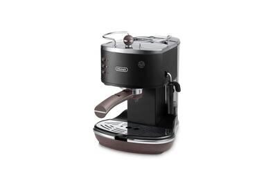 cafeti re dosette ou capsule delonghi expresso pompe icona noir delonghi ecov darty. Black Bedroom Furniture Sets. Home Design Ideas